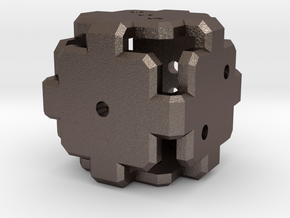 Plate D6 - MK2 in Polished Bronzed Silver Steel