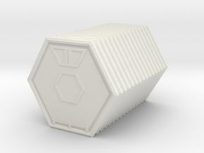 Hex crate in White Natural Versatile Plastic