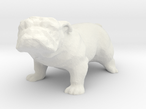 G scale bulldog H in White Natural Versatile Plastic