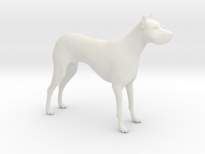 G Scale Guard Dog H in White Natural Versatile Plastic