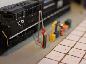 N Scale 4x Fuel Crane #1 Long in Smooth Fine Detail Plastic