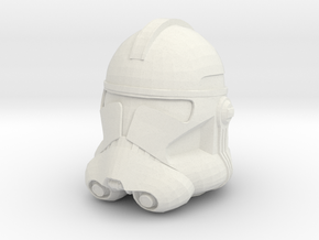 Clone Trooper Helmet - 32mm  in White Natural Versatile Plastic