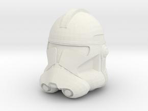 Clone Trooper Helmet - 32mm  in White Natural Versatile Plastic