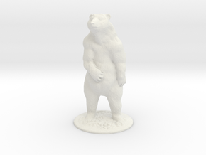 G Scale Grizzly Bear H in White Natural Versatile Plastic
