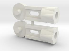 Microtron Tool Forearm in White Natural Versatile Plastic