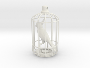 Parrot Charm in White Natural Versatile Plastic