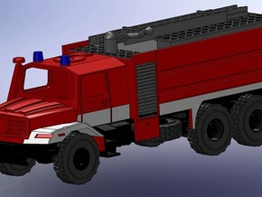 Zetros 6x6 Feuerwehr TFL 1:160 in Frosted Ultra Detail