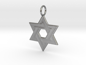 Star of David (Smooth) in Natural Silver