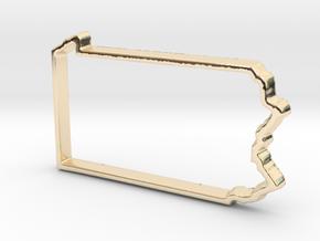 Pennsylvania Pendant in 14k Gold Plated Brass