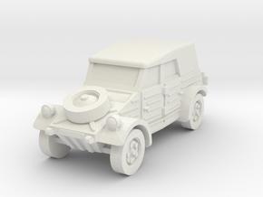 kubelwagen scale 1/100 in White Natural Versatile Plastic