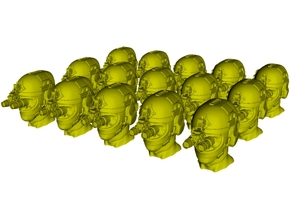 1/50 scale SOCOM operator F helmet & heads x 15 in Smoothest Fine Detail Plastic
