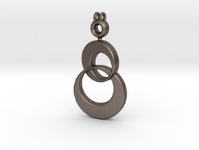 Shimmeria Pendant in Polished Bronzed Silver Steel