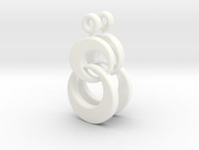 Shimmeria Earrings Pair in White Processed Versatile Plastic