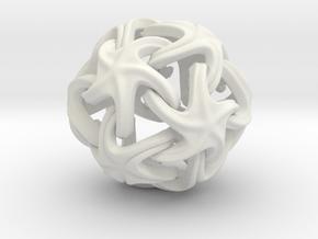 Starfish Ball  in White Natural Versatile Plastic