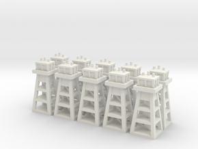 Air Base Tower Small x10 in White Natural Versatile Plastic