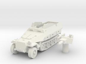sdkfz 251 D9 scale 1/100 in White Natural Versatile Plastic