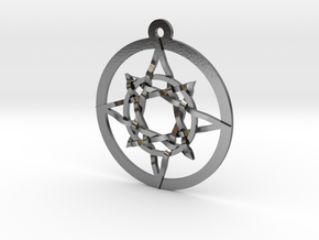 "Iso 8 Pointed Star Pendant 1.2"" in Polished Silver"