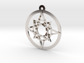 """Iso 8 Pointed Star 1.25+"""" in Platinum"""
