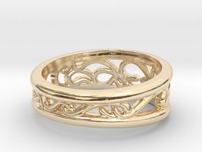 Dark Souls Sun Princess Ring in 14k Gold Plated Brass: 5 / 49