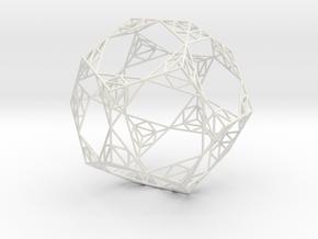 Sierpinski Wire Dodecahedron in White Natural Versatile Plastic