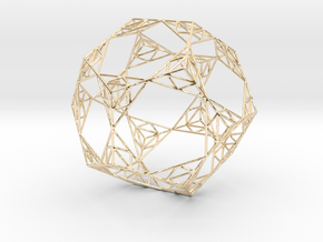 Sierpinski Wire Dodecahedron in 14K Yellow Gold