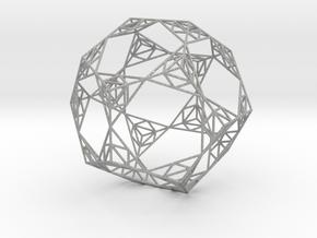 Sierpinski Wire Dodecahedron in Aluminum