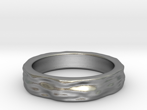 Mesh0493 Ring - narrow in Natural Silver