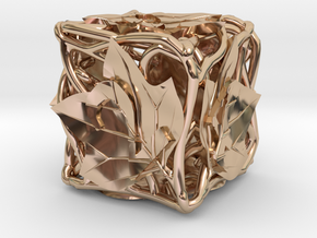 Botanical d6 (Tulip Tree) in 14k Rose Gold