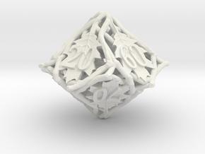 Botanical Decader d10 (Oak) in White Natural Versatile Plastic