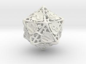 Botanical Die20 (Aspen) in White Premium Versatile Plastic