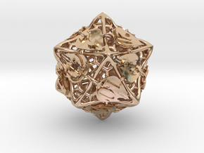 Botanical d20 (Aspen) in 14k Rose Gold