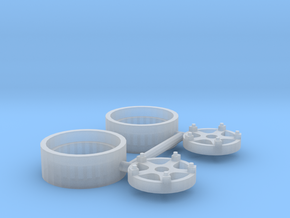 "IH W-series 16"" wheel (1 pair) in Smooth Fine Detail Plastic"