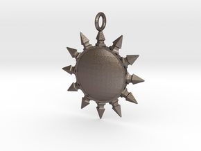 Pelor pendant in Polished Bronzed Silver Steel