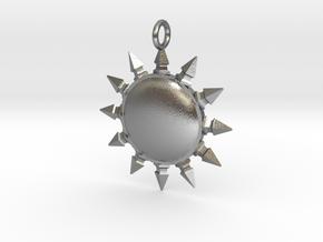Pelor pendant in Natural Silver
