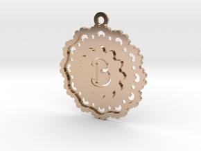 Magic Letter B Pendant in 14k Rose Gold Plated Brass