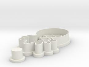 pineapple-cookiecutter in White Natural Versatile Plastic