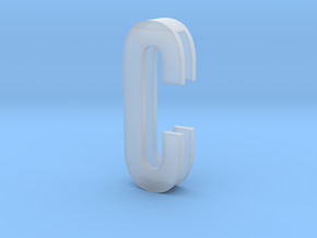 Choker Slide Letters (4cm) - Letter C in Smooth Fine Detail Plastic