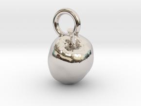 Apple, charms, pendants in Platinum