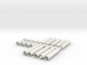 SET-Proyectiles Con Fundas 105-H0-proto-01 in White Natural Versatile Plastic