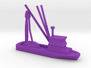 Fishing Boat Game Piece in Purple Processed Versatile Plastic