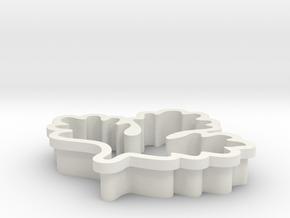 pukchee-cookiecutter in White Natural Versatile Plastic