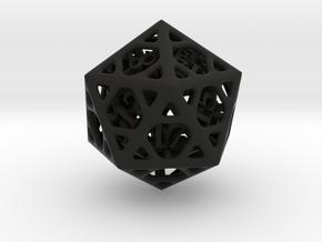 Cage Die20 in Black Premium Versatile Plastic