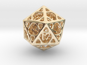 Cage d20 in 14K Yellow Gold