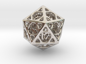 Cage d20 in Platinum