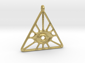 Illuminati Pendant in Natural Brass