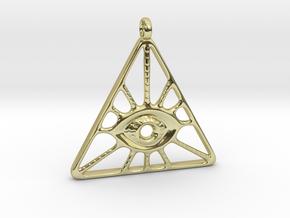 Illuminati Pendant in 18K Gold Plated