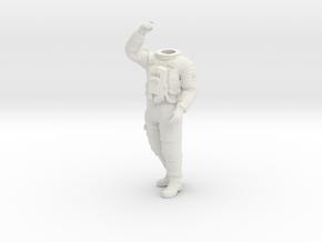 SF Astronaut, Lunar / Pos. 4 / 1:24 / 1:16 in White Natural Versatile Plastic: 1:16