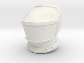 SF Lunar Astronaut / Helmet / 1:24 / 1:16 in White Natural Versatile Plastic: 1:16
