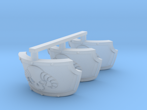 Daemon Head Centaur Shoulder Pads x3 R in Smooth Fine Detail Plastic