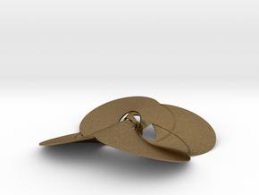 pendant p c trefoil knots + diagonals in Natural Bronze